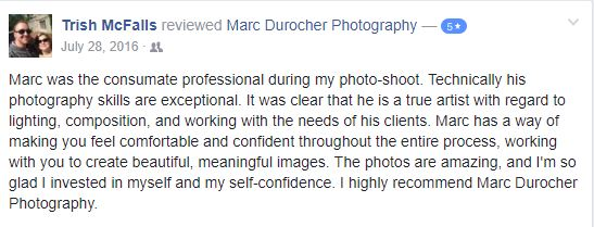 Trish - Boudoir Photoshoot testimonial