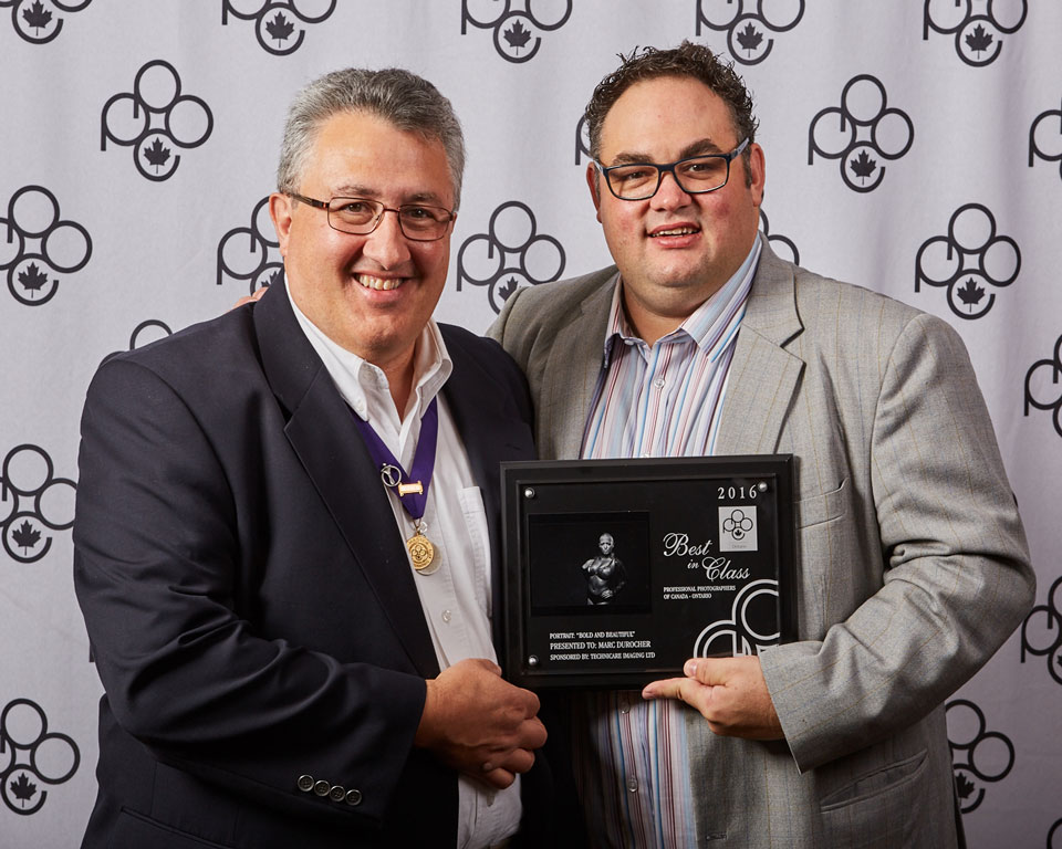 Best in class portrait award at the professional photographers of canada